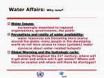 water affairs why now