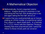 a mathematical objection