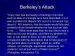 berkeley s attack
