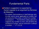 fundamental parts