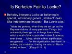 is berkeley fair to locke