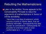 rebutting the mathematicians
