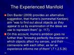 the experienced manifold