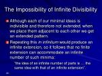 the impossibility of infinite divisibility