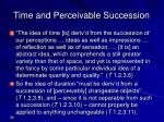 time and perceivable succession