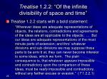 treatise 1 2 2 of the infinite divisibility of space and time