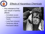 effects of hazardous chemicals