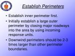establish perimeters