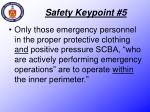 safety keypoint 5