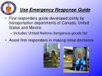 use emergency response guide