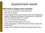 questionnaire results1