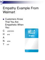 empathy example from walmart