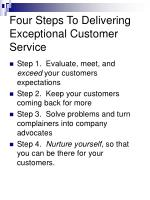 four steps to delivering exceptional customer service