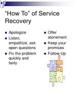 how to of service recovery