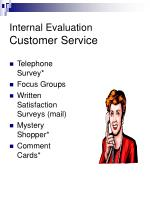 internal evaluation customer service