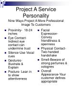 project a service personality nine ways project a more professional image to customers