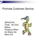 promote customer service