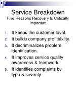 service breakdown five reasons recovery is critically important