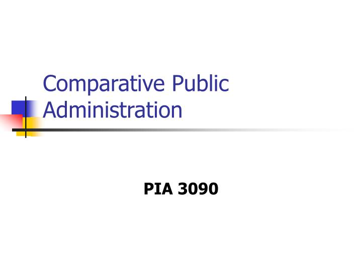 comparative public administration n.