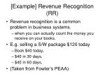 example revenue recognition rr