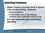 advertising prominence