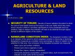 agriculture land resources