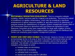 agriculture land resources1