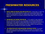 freshwater resources4