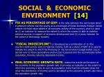 social economic environment 14