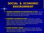 social economic environment