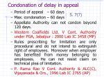 condonation of delay in appeal