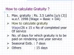 how to calculate gratuity