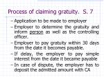 process of claiming gratuity s 7