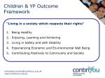children yp outcome framework