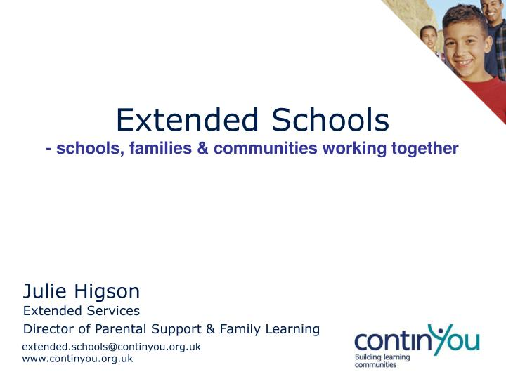extended schools schools families communities working together n.