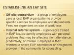 establishing an eap site1