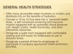 general health strategies
