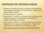 strategies for inspiring change