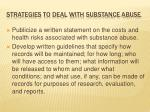 strategies to deal with substance abuse