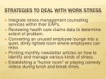 strategies to deal with work stress