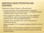 substance abuse prevention and treatment