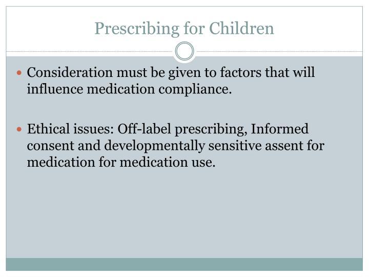 Prescribing for Children