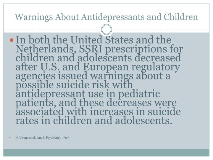 Warnings About Antidepressants and Children