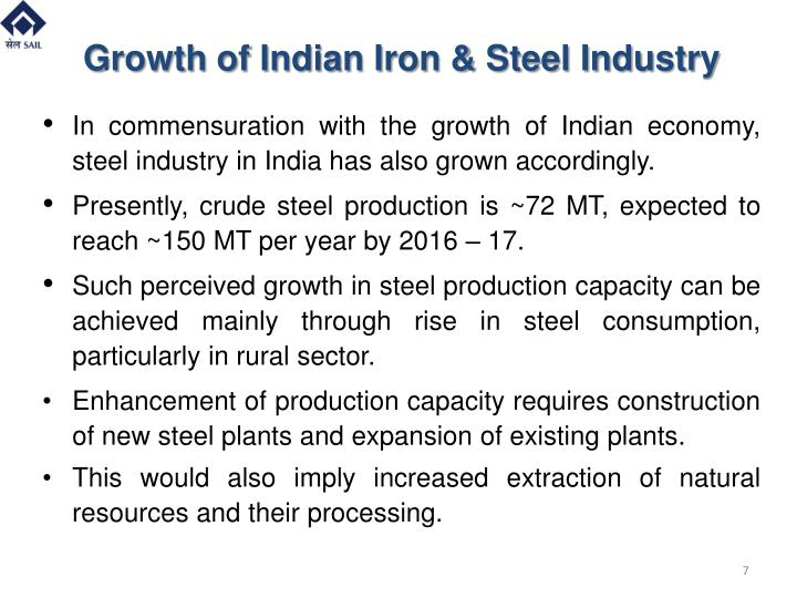 growth of iron and steel industry in india