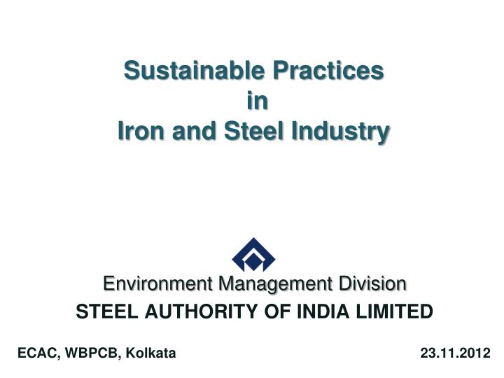 sustainable practices in iron and steel industry n.