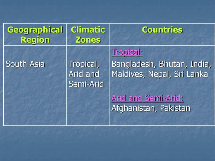 Climate change situation in south asia dr shelly