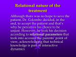 relational nature of the treatment1