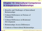 chapter 10 intercultural competence in interpersonal relationships