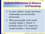 cultural differences in notions of friendship1
