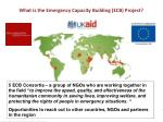 what is the emergency capacity building ecb project